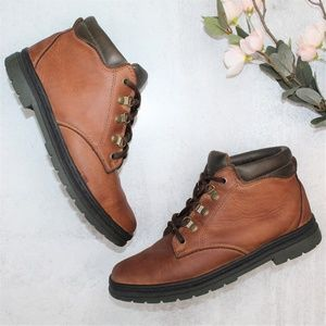 VTG Capezio Sport Brown Leather Lace Up Booties
